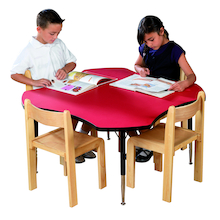 Height Adjustable Clover Classroom Table  medium