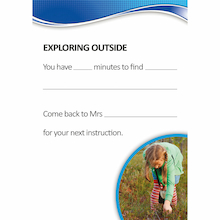 Autism Outdoor Activity Cards A5 50pk  medium