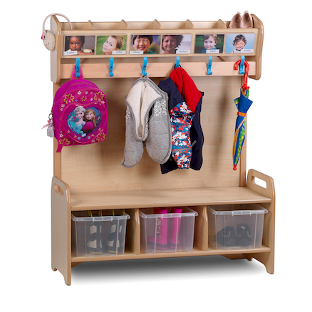 Playscapes Freestanding Cloakroom Unit  large