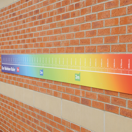 Giant Outdoor Rainbow Ruler L4m  large