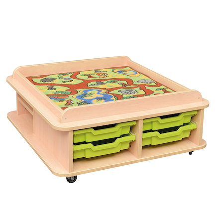 Toddler Low Play Table and Mats  large
