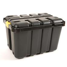 Black Storage Container on Wheels  medium