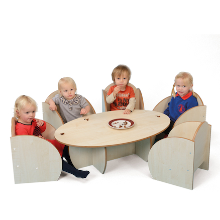 Mini Toddler Low Table W1000 x D65 x H300mm  large