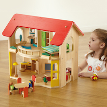 Small World Wooden Dolls House and Furniture  medium