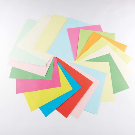 A4 Bright Coloured Card 4pk  large