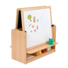 Room Scenes Double Easel with Storage  medium