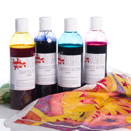Batik Assorted Fabric Dyes 250ml 4pk  large