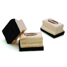 Show-me Wooden Handled Whiteboard Eraser 30pk  medium