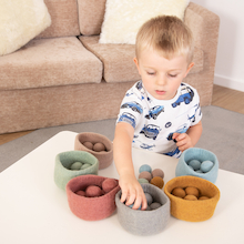 Ball and Bowl Set Earth Colours  medium
