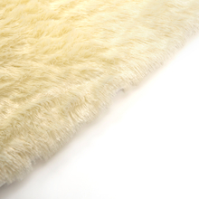 Cream Fur Mat  medium