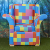 Giant Patchwork Three Piece Suite  small