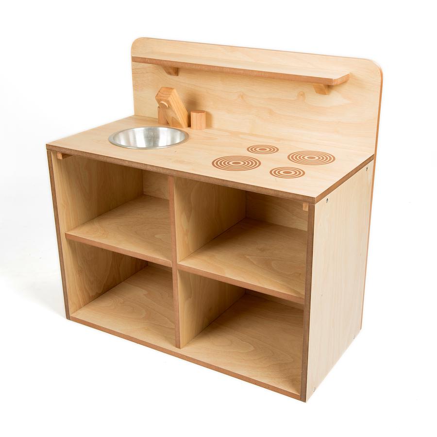 buy toddler wooden role play kitchen unit tts. Black Bedroom Furniture Sets. Home Design Ideas
