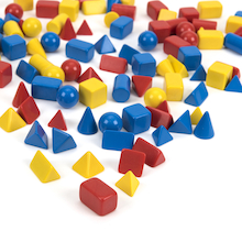 Coloured Small Solid Shapes 96pk  medium