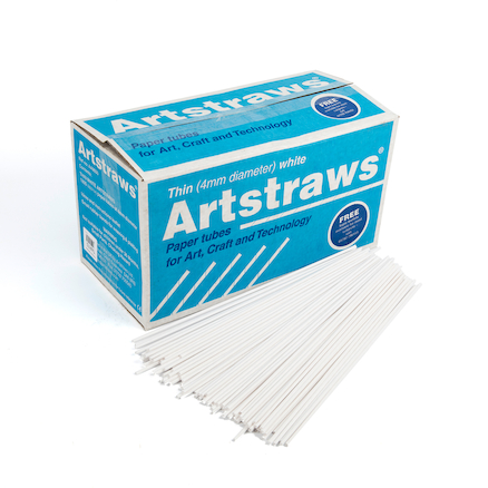 White Artstraws  large
