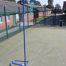Wheel-Away Adjustable Netball Posts and Bases Pair  medium