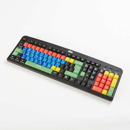 TTS Multi\-coloured Lowercase Keyboard  large