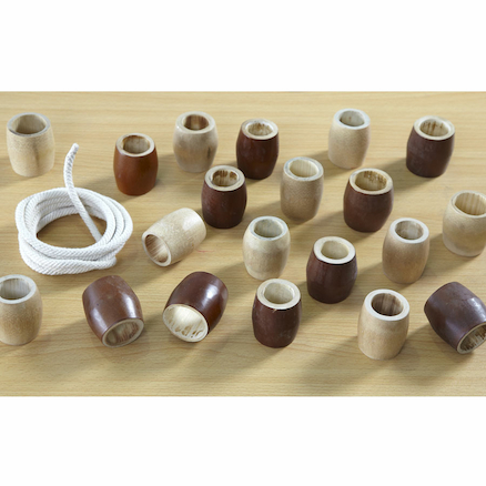 Outdoor Natural Wooden Threading Beads 20pcs  large