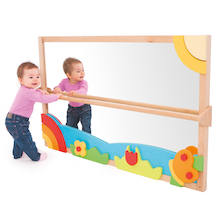 Toddler Wall Mirror with Pull Up Bar  medium
