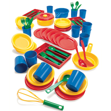 Large Plastic Role Play Dining Set  medium