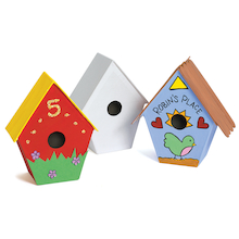 Papier Mache Birdhouse Set 12pk  medium
