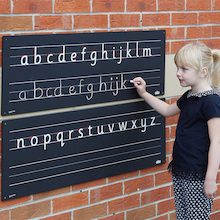 Outdoor Chalkboard Alphabet Line  medium