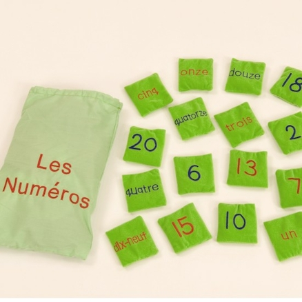 French Number Bean Bags 20pk  large