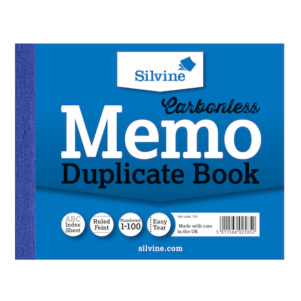Carbonless Duplicate Memo Book  large