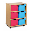 Mobile Tray Storage Unit With 6 Extra Deep Trays  small