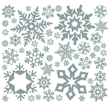 Glitter Snowflakes Winter Wall Sticker Decoration  medium