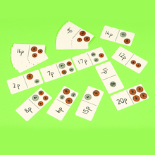 Up to 10p and 20p Laminated Dominoes  medium
