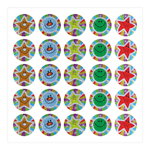 Stars and Smiles Sparkling Foil Stickers  medium