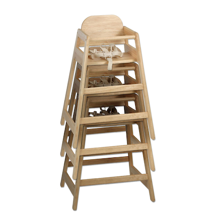 Stacking Wooden High Chair  large