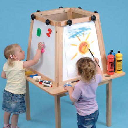 Four Sided Table Easel  large