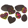 Scratch Board Shapes 20pk  small