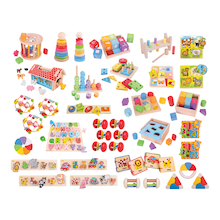 Bulk Pack of Wooden Manipulative Nursery Toys  medium
