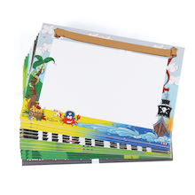 Themed A4 Dry Wipe Provocation Whiteboards 30pk  medium