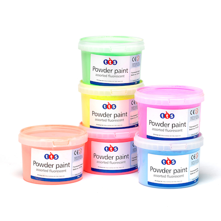 Assorted Fluorescent Powder Paint, 6x500g  large