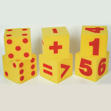 Giant Soft Foam Dice Set 6pcs  medium