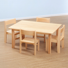 Solid Beech Rectangular Classroom Tables  medium