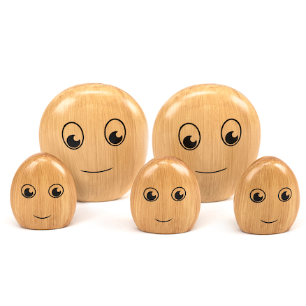The Wooden Pebble Family  large