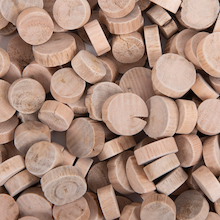 Small Round Wooden Craft Pieces 1kg  medium