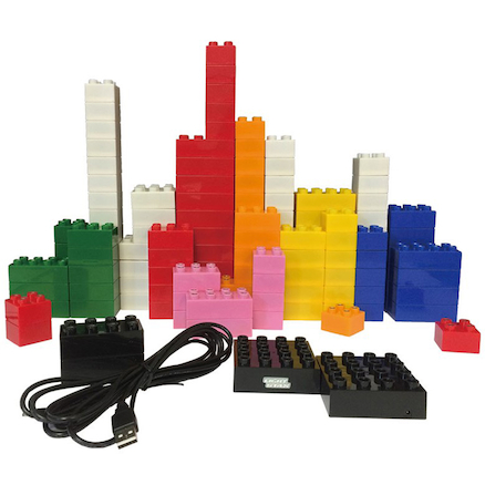 Junior Light Up Construction Bricks 180pk  large