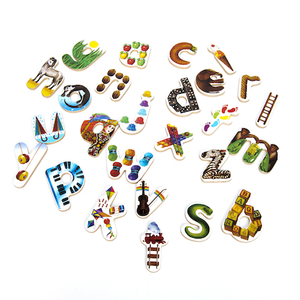 Wooden Alphabet Jigsaw Puzzle  large