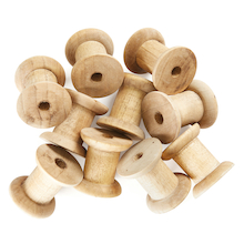 Wooden Craft Spools 10pk  medium