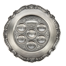 Jewish Brass Seder Plate  medium