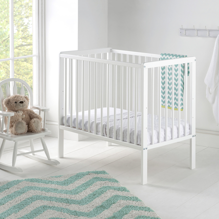 Space Saver Wooden Cot with Mattress  large