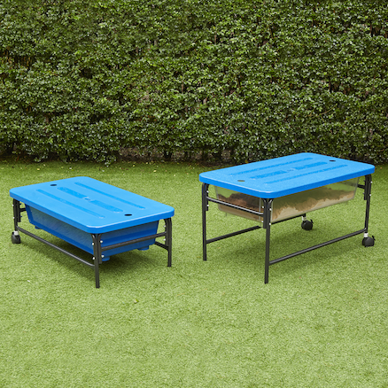 Sand \x26 Water Play Table 40cm Blue\/Translucent 2pk  large