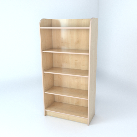 Library Bookcase In Maple  large