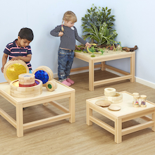 Toddler Wooden Nesting Tables 3pk  medium