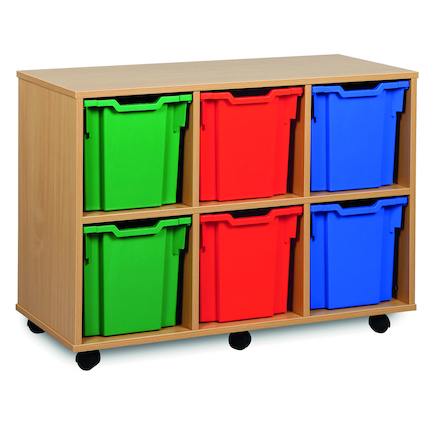 Mobile Tray Storage Unit With 6 Jumbo Trays 3x2  large
